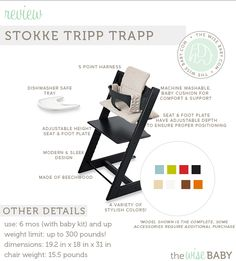 Stokke Tripp Trapp real mom review - The Wise Baby - one of our favorite high chairs!