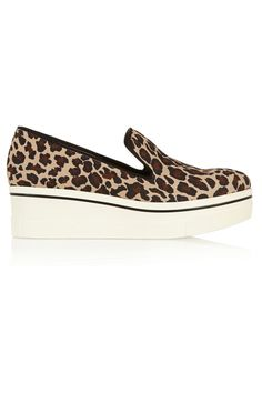 Stella McCartney Leopard-print canvas slip-on sneakers(=)