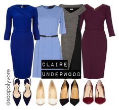"""""""claire underwood"""" by saopolyvore ❤ liked on Polyvore featuring Goat, Balenciaga, Gucci, Roland Mouret, Christian Louboutin, Paul Andrew and Charlotte Olympia"""