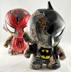 Batman and spidey munny