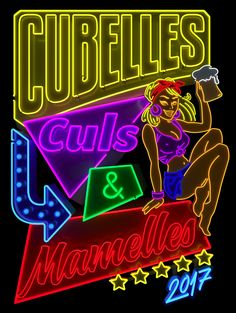 Cubelles - Neon sign on Behance