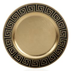 Greek Key Charger - Black & Gold - Set of 4 - 31.80 from Z Gallerie