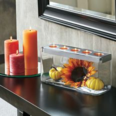 """Autumn Display"" Customizable Tealight Centerpiece by #PartyLite #Candles - Click for more decorating ideas"