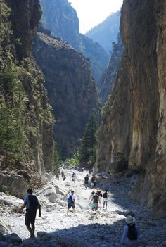Samaria Gorge. Crete, Greece