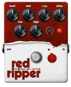Tech 21 RIP Red Ripper Bass Distortion Effect Pedal by Tech 21. $179.42