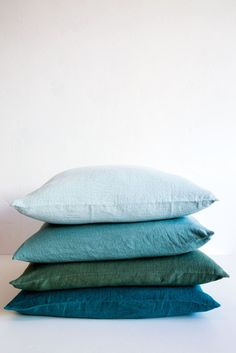 100% linen sold individually pl blue sage jade turq standard inserts not included made in france