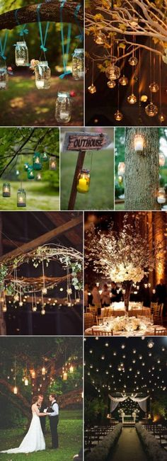 inspirational hanging candle lights wedding ideas