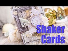 Christmas Shaker Cards. Step by step tutorial. Scraps Of Darkness - YouTube