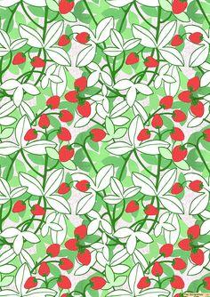 #strawberries #fruits #patterns #print #art #design