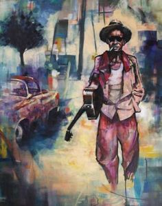 """Saatchi Art Artist Camille Nat; Painting, """"Free Man Walking"""" #art"""