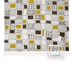 Murals of Screen Printed Furnishing Fabric II by Conran Fabrics Archive (3000mm x 2400mm)   Shop   Surface View