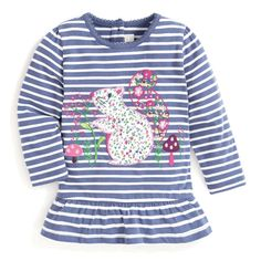 Create an effortless everyday outfit with the Girls' Blue Stripe Hedgehog Tunic. Pretty hedgehog applique in a contrast floral print features on a background of nautical-inspired stripes, making it a lovely top for animal lovers. Fall Capsule Wardrobe, Everyday Outfits, No Frills, Blue Stripes, Hedgehog, Floral Prints, Tunic, Pretty, Girls