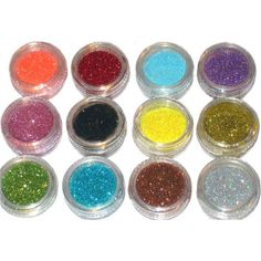 Amazon.com: 12 Color Glitter Sparkle Powder Nail Art Makeup Body Painting: Beauty