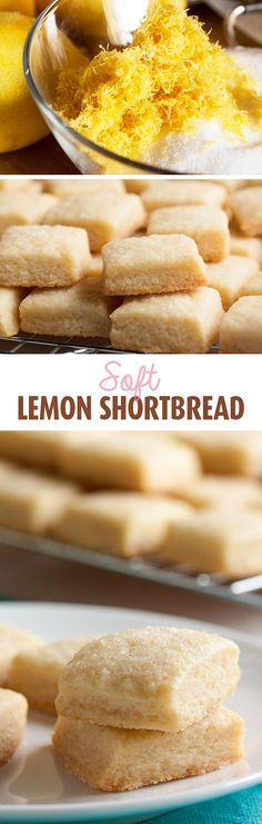This tiny lemon shortbread cookie is soft and tender and buttery. A lovely variation on traditional shortbread. : This tiny lemon shortbread cookie is soft and tender and buttery. A lovely variation on traditional shortbread. Lemon Desserts, Lemon Recipes, Cookie Desserts, Just Desserts, Sweet Recipes, Baking Recipes, Cookie Recipes, Dessert Recipes, Cookie Cups