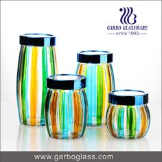 Colorful glass food container