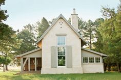 Architect Ken Pursley looked to early American churches, barns, and the surrounding rural landscape when designing this timeless retreat on Maryland's Upper Eastern Shore.