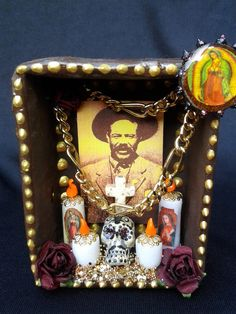 Pancho Villa Dia de los muertos shrine by littlesugarbox on Etsy, $20.00