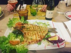 "Orata italian style... Italian dinner! Verdicchio dei Castelli di Jesi ""Le Vaglie"" by Stefano Antonucci winery  @vininorden #hvidvin #winegeek #winelovers #winestagram #winelife #wine #fish #orata #verdicchio #jesi #marche #antonucci #levaglie #godvin #lørdag #saturdaynight #saturdaymood #saturdayvibes #dinnernight #dinnerout #dinnertime #fb #tw #pin #mag"