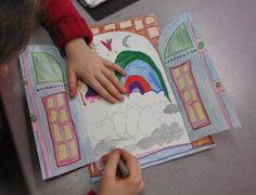dessin réalisé au crayon de couleur feutre et encre sur papier canson par enfant 6 et 7 ans