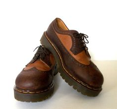 Great pair of Men's Doc Martens Wingtip Oxfords.  Size 11.  Made in England.   Auction ends this Sunday, May 18th!