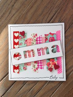 personalize the card using negative space of die cut over pretty paper or washi tape