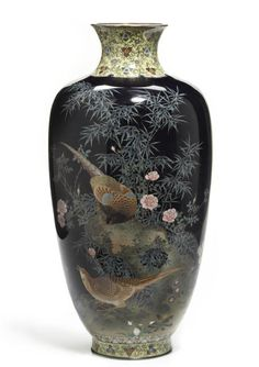 A fine cloisonne enamel vase by the workshop of Hayashi Kodenji (1831-1915), late 19th century. Sold at Bonhams 2012 for $104,500