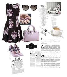 """Purplestyle"" by azradesing ❤ liked on Polyvore featuring Valentino, Zoya, Gucci, CLUSE and Whiteley"