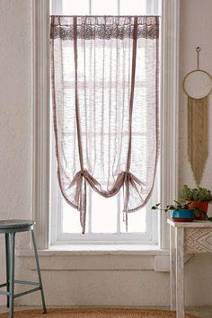 Adara Trim Draped Shade Curtain