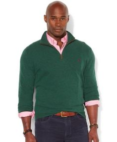 76db363726eb Polo Ralph Lauren Big and Tall Loryelle Wool-Blend Quarter Zip Sweater Men  - Sweaters - Macy s