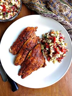 Make everyone a fish lover with this cajun blackened fish. Make it a complete meal with Texas caviar!