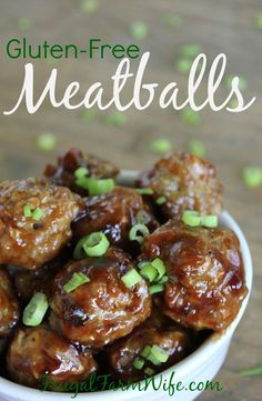 gluten-free meatballs. These are so good! And can you believe they're gluten-free?!