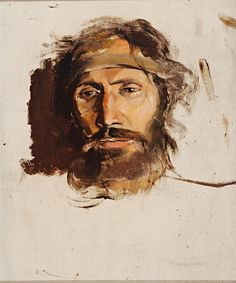 The name of the work 'Christ' evokes a similarity with the son of God. It belongs to a collection of works, which were left purposely unfinished by Mednyán. Art Google, Fantasy Art, Christ, Culture, Drawings, Masters, Study, Painting, Master's Degree