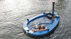 Hot Tub tug boat. This certainly qualifies as weird.