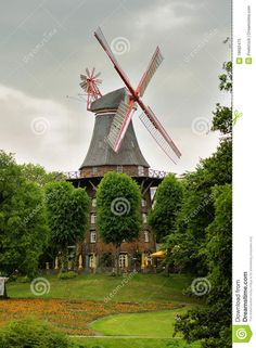 Windmill In Bremen, Germany - Download From Over 60 Million High Quality Stock Photos, Images, Vectors. Sign up for FREE today. Image: 18682475