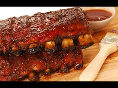 Make BBQ Ribs in Your Oven - THEY FALL OFF THE BONE!
