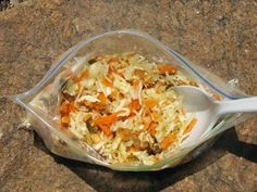 Trail salad recipes | The Carter Notch Coleslaw adds variety to your food bag.