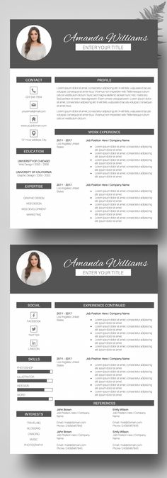 Resume Template Cv Template For Ms Word Professional And Modern
