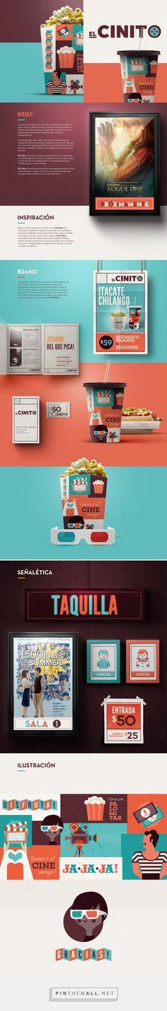 Graphic design, branding and packaging for El Cinito on Behance curated by Packaging Diva PD. Nuestro país ocupa la 10ª. posición en asistencia a las salas de cine a nivel mundial.