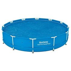 Bestway Round Floating Above Ground Swimming Pool (Blue) Solar Heat Cover Swimming Pool Stores, Cool Swimming Pools, Above Ground Swimming Pools, Above Ground Pool, In Ground Pools, Solar Pool Cover, Easy Set Pools, Sport Pool, Floating In Water