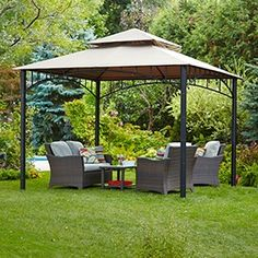 Looking for shade? Try the Havana Collection Gazebo. Backyard, Patio, Canadian Tire, My Canvas, My Dream, Gazebo, Outdoor Living, Shades, Outdoor Structures