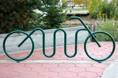 What do the bike racks in your town look like?