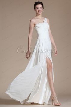 Carlyna 2014 New One Shoulder Lace Decoration Wedding Dress  www.carlyna.com/carlyna-2014-new-one-shoulder-lace-decoration-wedding-dress-c01140207-_p454.html