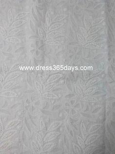 Buy White Unstitched Cotton Kurta Fabric with Jaali Work(One Piece) #chikankari #whitefabric #handembroidery
