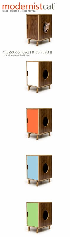 Mid Century Modern Pet Furniture // Cat Litter Box by modernistcat, $449.00