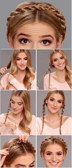 Прическа коса вокруг головы