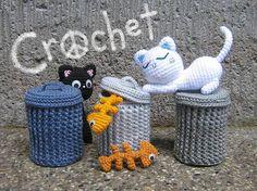 Alley Cats Crochet Pattern by stripeyblue, via Flickr