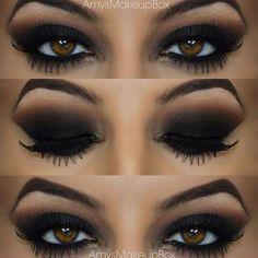 Smokey eyes-simple steps