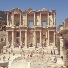 Throwback to when I was on outreach and we got the sweet privilege to go to Izmir Turkey and see Ephesus!  #ywam #ywamdp #Turkey #Izmir #outreach #history #architecture #library #ephesus #ephesians #tbt by skydivestef http://bit.ly/dtskyiv #ywamkyiv #ywam #mission #missiontrip #outreach