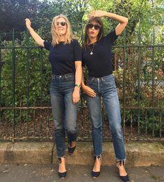 navy tee + jeans + espadrilles.