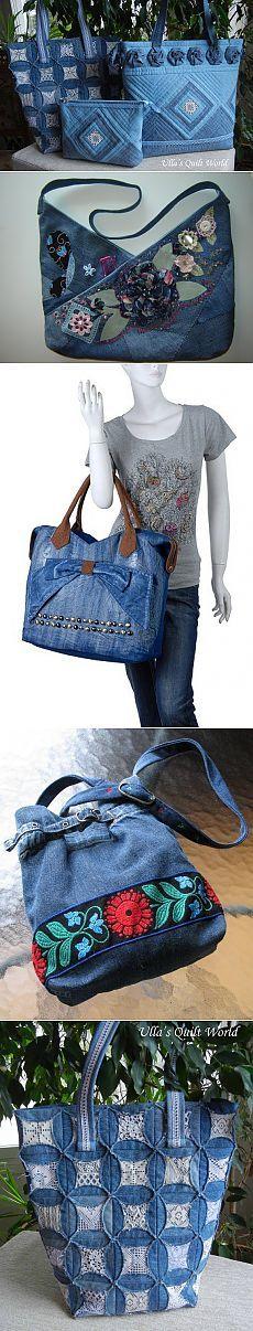 Krásné Džínovina tašku.                                                                                                                                                      Más